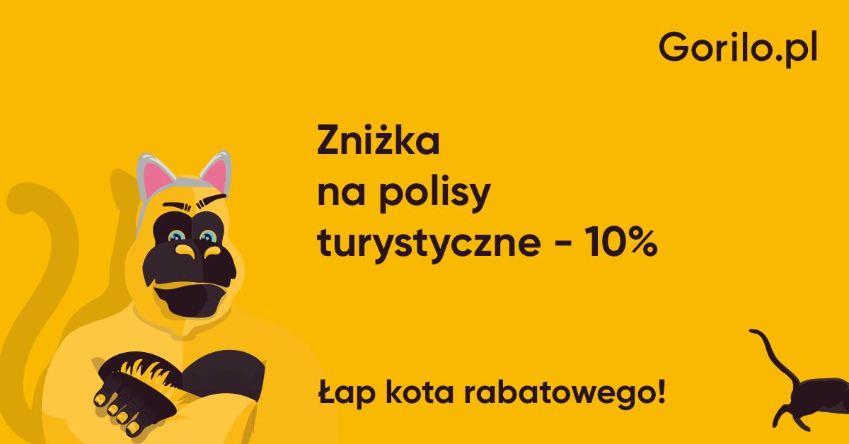 Zniżka na ubezpieczenia turystyczne Gorilo.pl