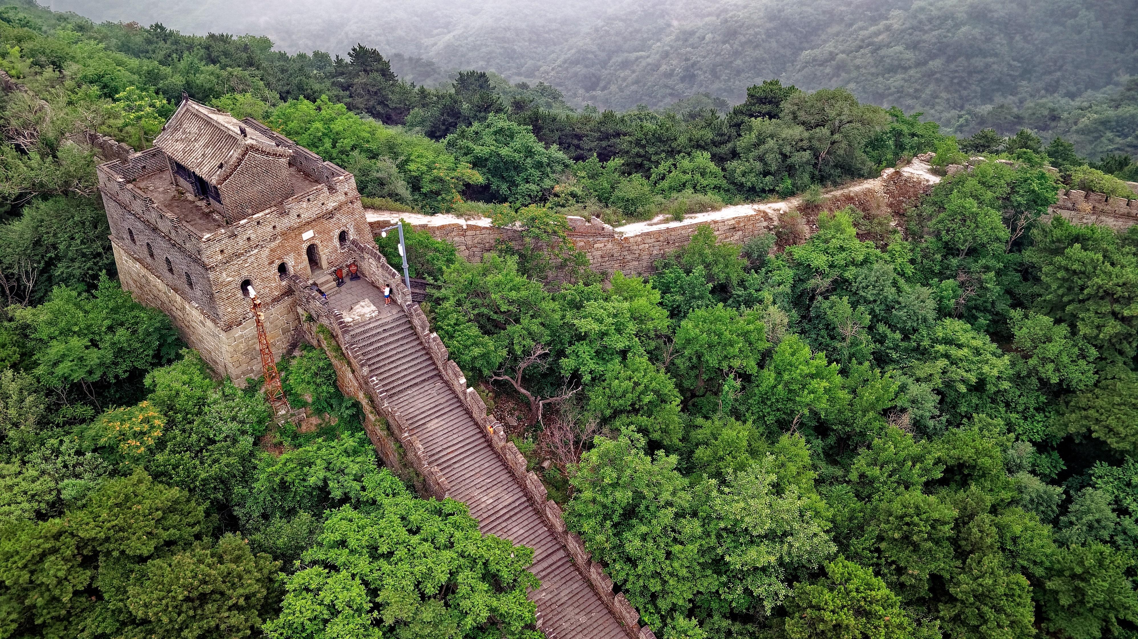 Widok na Wielki Mur Chiński