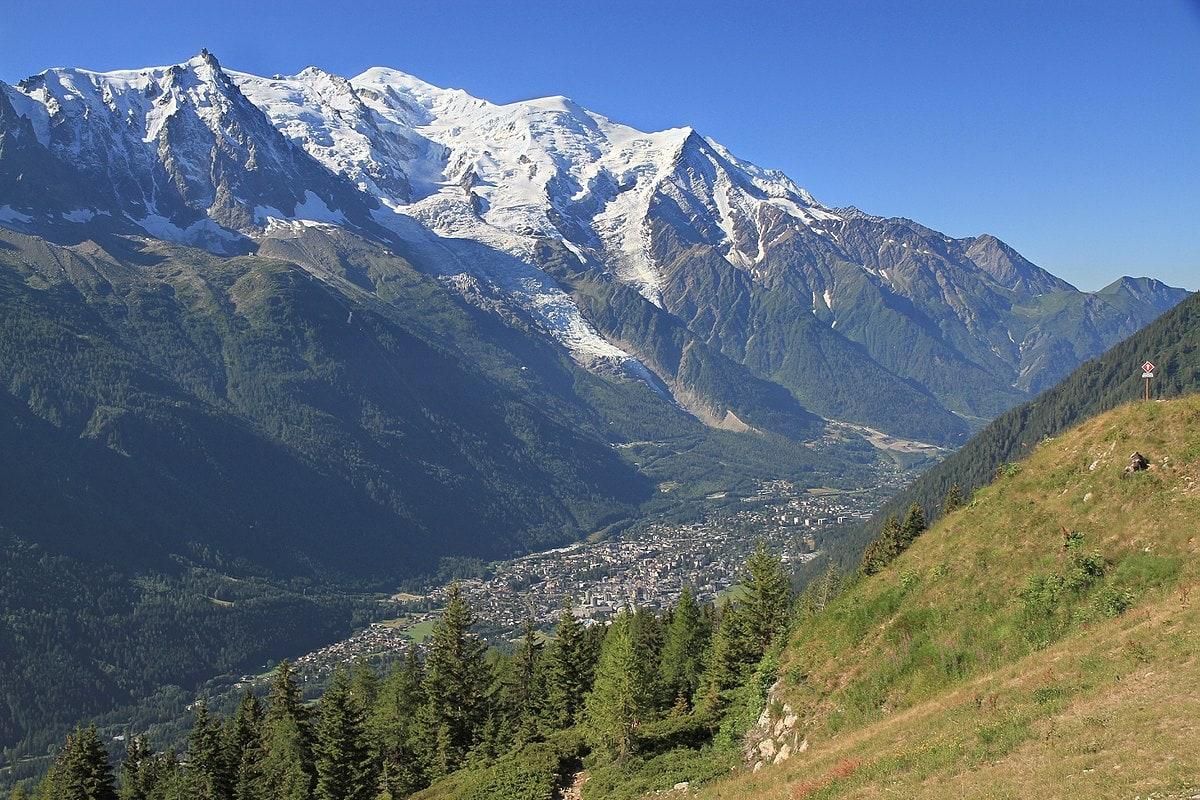 Chamonix we Francji., Mont Blanc