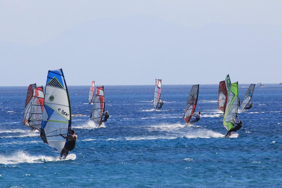 Grecja, surfing, windsurfung, kitesurfing.