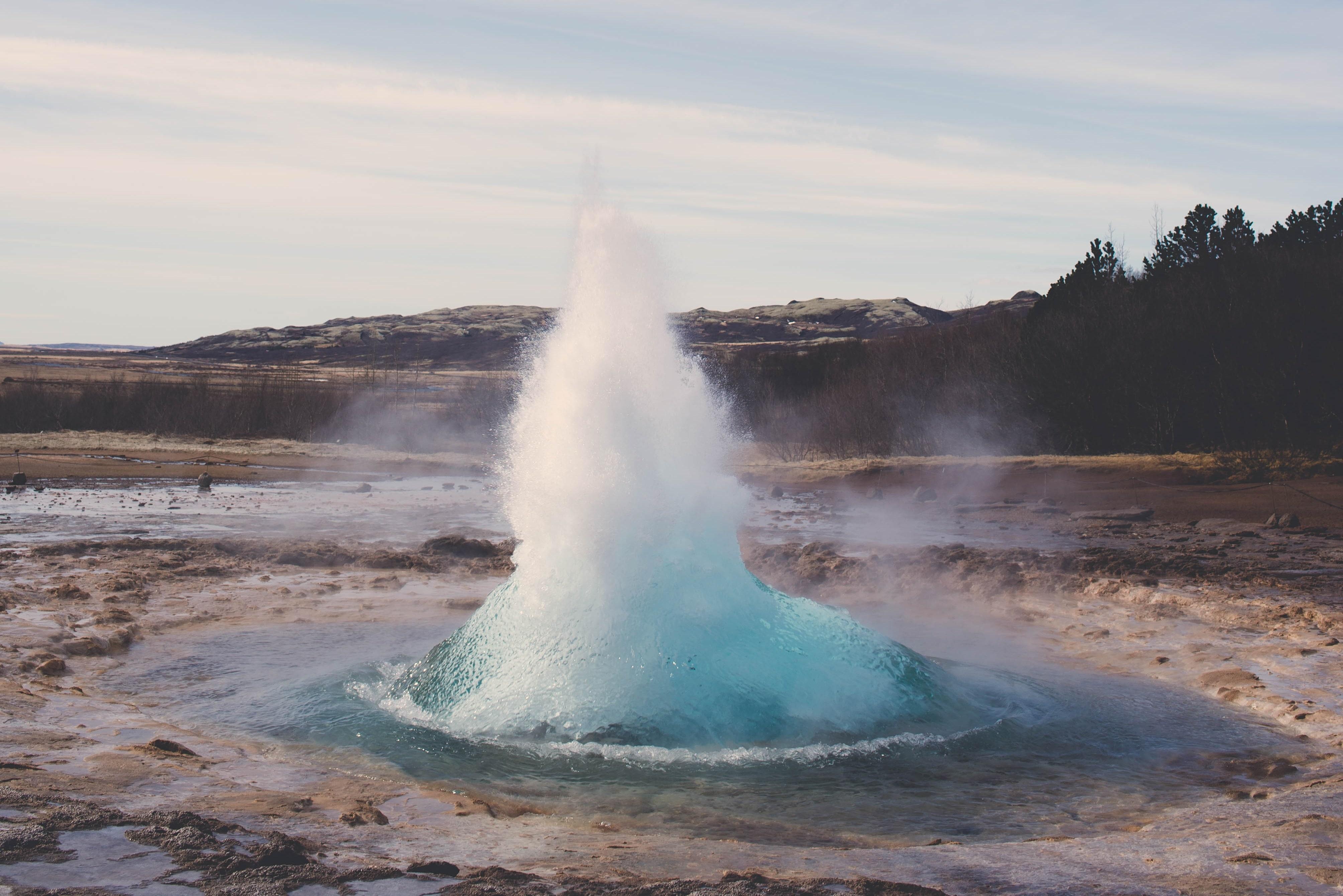 Uważaj na gorące źródła termalne w Islandii