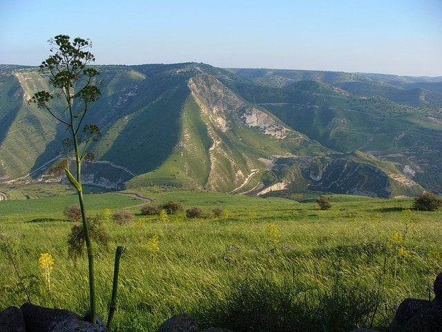 Piękne wzgórza Golan w Izraelu.