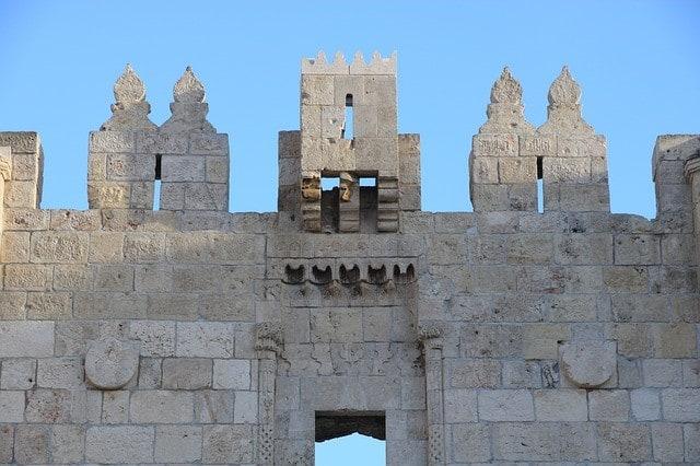 Mury Starego Miasta w Izraelu.