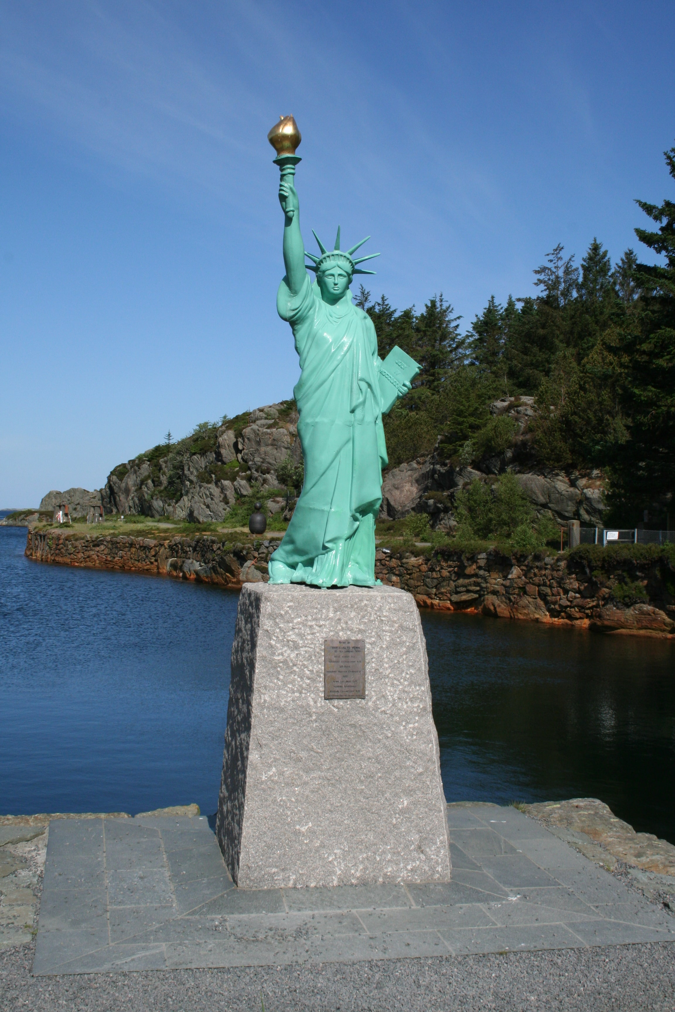 Statua wolności w Norwegii.